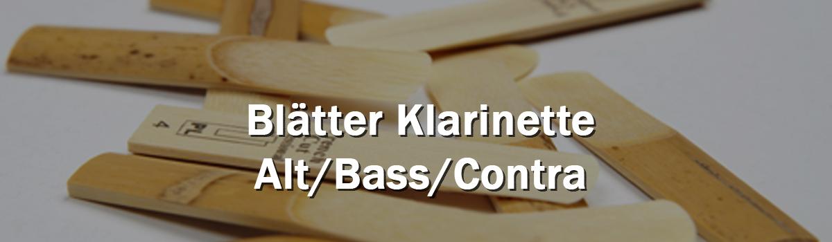 Blätter Klarinette Alt/Bass/Contra