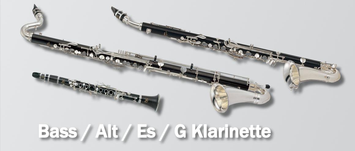 Klarinette Bass / Alt / Es / G